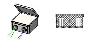 Трансформатор залитый в пластмассовом корпусе