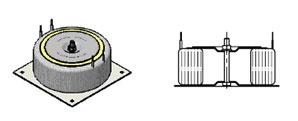 Трансформатор на квадратном основании с чашкой