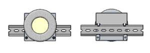 Трансформатор на квадратном основании с заливкой окна и креплением на динрейку