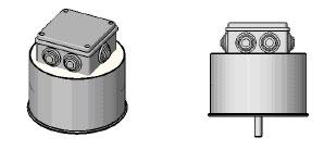 Трансформатор залитый с ответвительной коробкой IP55 и центральным болтом снизу