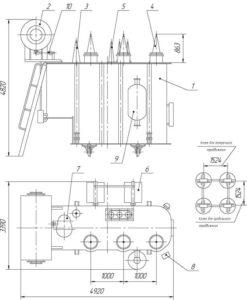 Трансформаторы двухобмоточные ТДНС 10000\35 У1