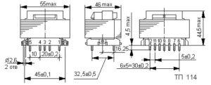 Габаритные размеры трансформаторов ТП-115