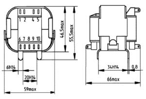 Габаритные размеры трансформаторов ТП-25