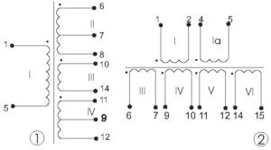 Электрические схемы трансформаторов ТП-25.