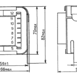 Габаритные размеры трансформаторов ТП-45