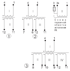 Электрические схемы трансформаторов ТП-45