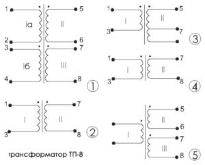 Схемы принципиальные трансформаторов ТП-8