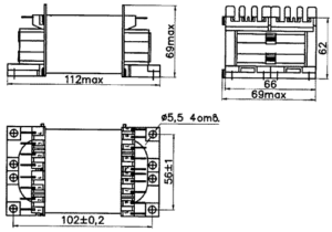 Габаритные размеры трансформаторов ТПК-110