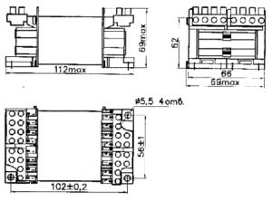 Габаритные размеры трансформаторов ТПК-110В