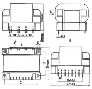 ТПК-25 размеры трансформатора