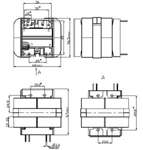 Габаритные размеры трансформаторов ТПК-60