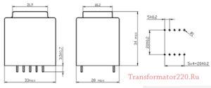 трансформатор тпг 306 размеры