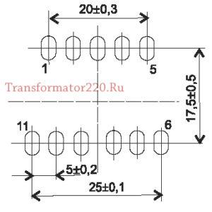 Трансформатор ТПГ 336 размеры
