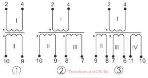 схема обмоток тпг 336