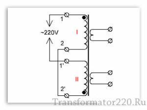 правильная фазировка первичной обмотки трансформатора