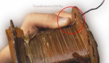 Количество витков первичной обмотки трансформатора