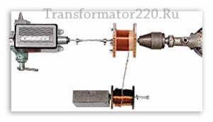 приспособление для намотки трансформатора из дрели