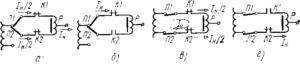 Схемы работы переключающего устройства с токоограничивающим реактором