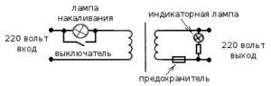 схема трансформатора для проверки блоков питания