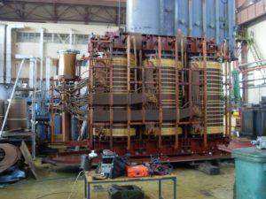 РПН силового трансформатора, устройство