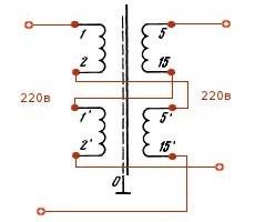 схема разделительного трансформаторы из ТС - 250