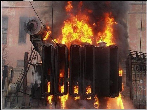 пажар трансформатора