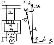 Рис. 3.33. Схема включения измерительного трансформатора напряжения