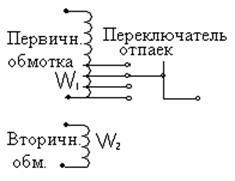 Изменение коэффициента трансформации силового трансформатора