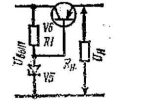 Рис. 2. Схема стабилизатора напряжения