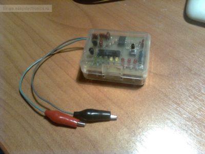 Самодельный тестер для проверки импульсных трансформаторов  LOPT/FBT tester Боба Паркера (К7205)