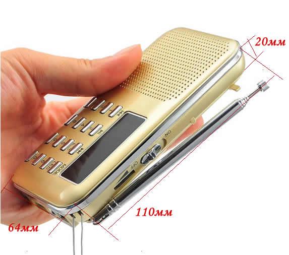 Инструкция и описание супер компактного цифрового радиоприемника и MP3 плеера, модель Y-896