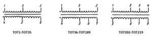 Электрические схемы согласующих сигнальных трансформаторов типа ТОТ