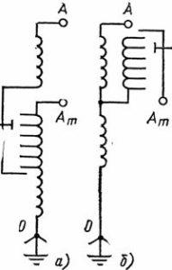 Схема регулирования на автотрансформаторах