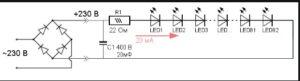 А как же подключить светодиодную ленту к 220В сети без блока питания